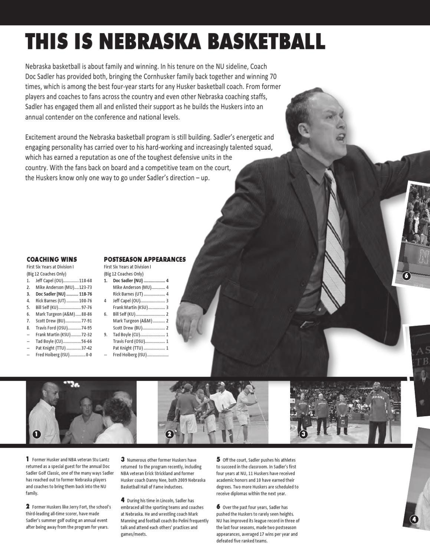 2010-11 Nebraska Men's Basketball Guide by Shamus McKnight