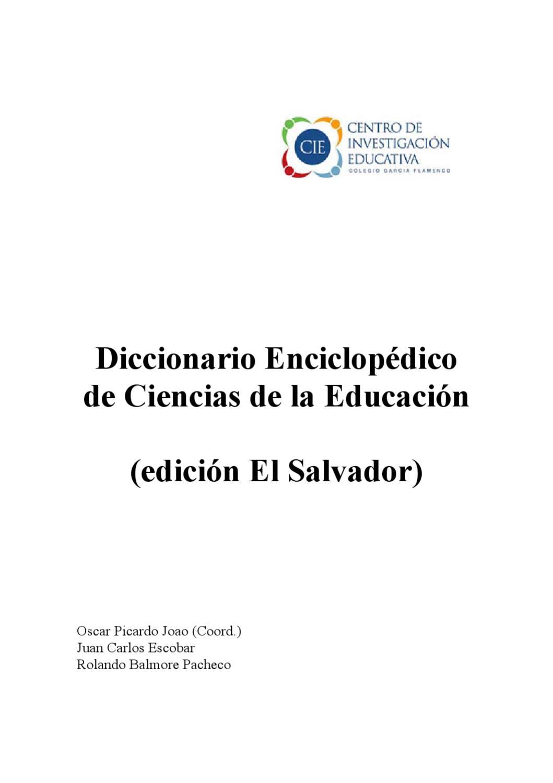 DICCIONARIO DE LA EDUCACION by Gabriel Alfonso Arévalo Camelo - issuu