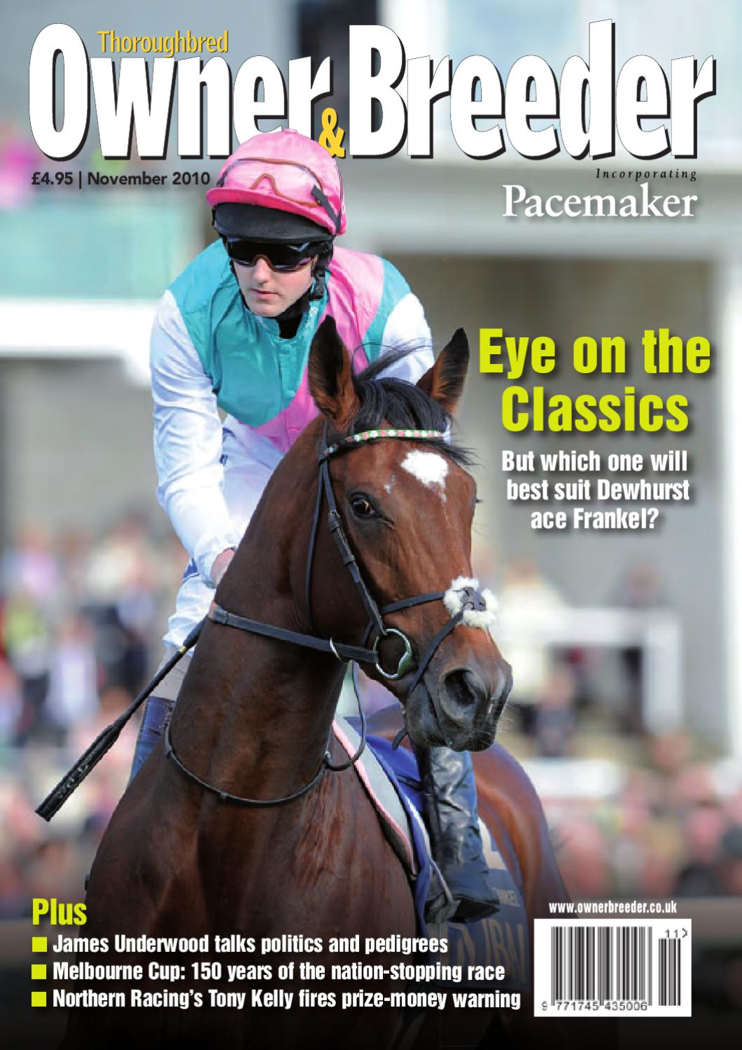 November 2010 Thoroughbred Owner And Breeder By