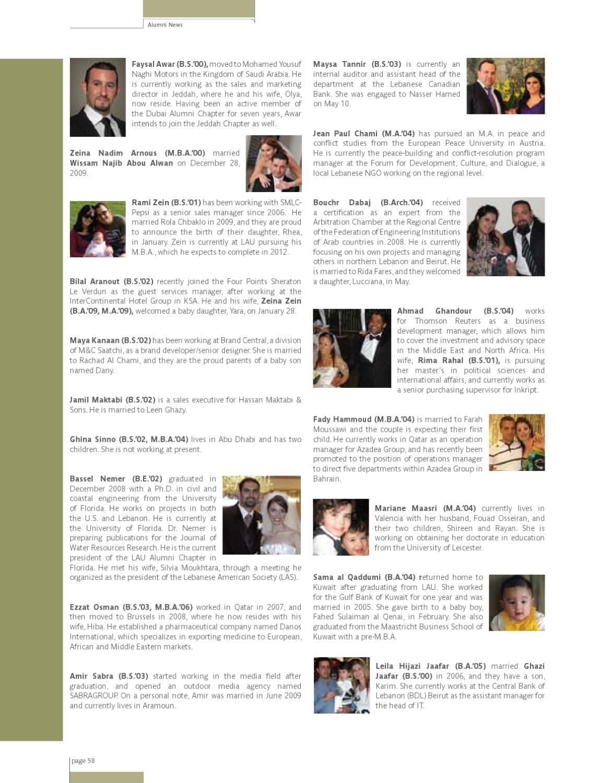 LAU Magazine & Alumni Bulletin (Fall 2010, Vol  12, Issue no  3) by