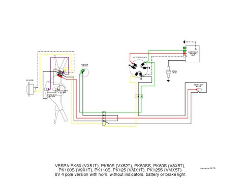 vespa pk wiring diagrams by et3px et3px issuu rh issuu com Vespa 200L Wiring Diagram 05 Vespa Light Switch Wiring Diagrams