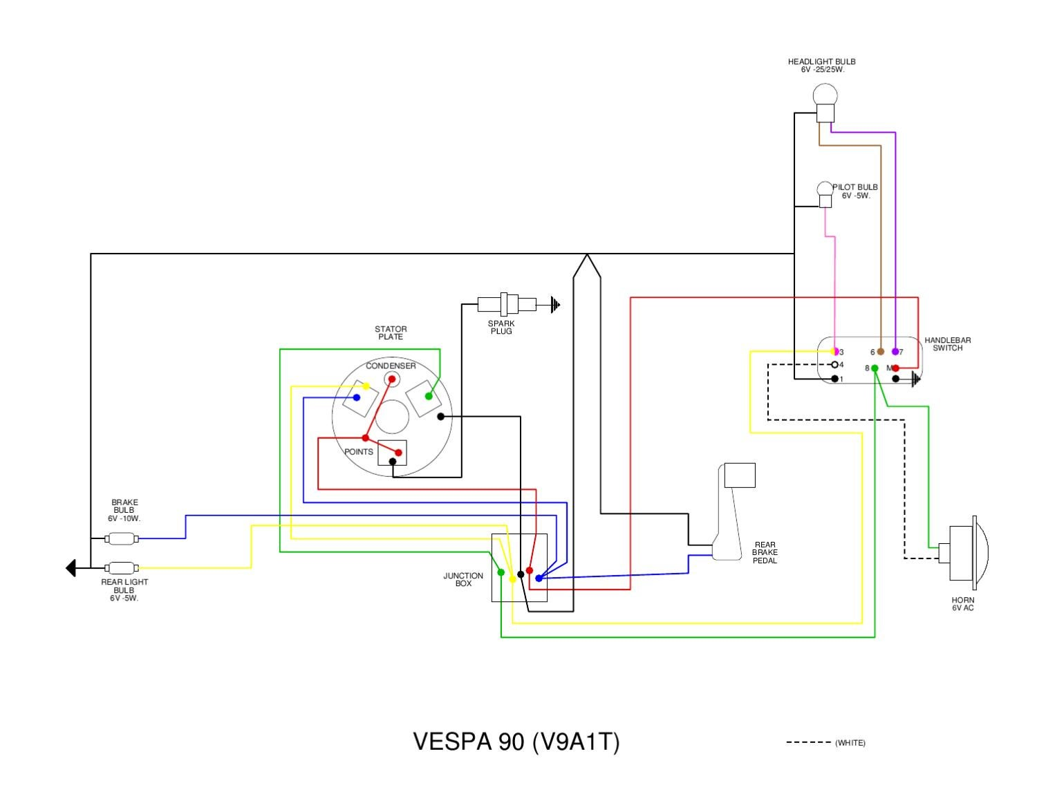 Vespa v wiring diagram by et px issuu