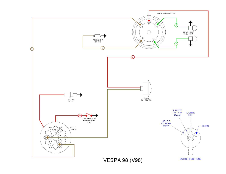 Vespa V  Wiring Diagram By Et3px Et3px