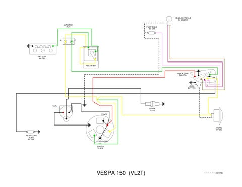 Vespa vl wiring diagram by et3px et3px issuu headlight bulb 6v 2525w junction box cheapraybanclubmaster Gallery