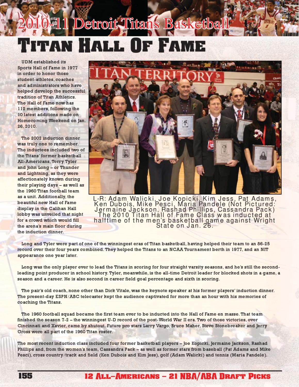 The 2010-11 Detroit Titans Men's Basketball Yearbook by P J