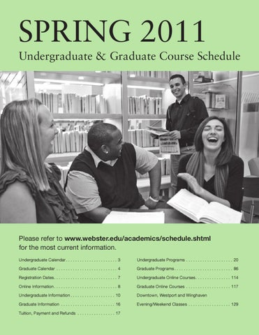 Webster University St  Louis Spring 2011 Schedule by Webster