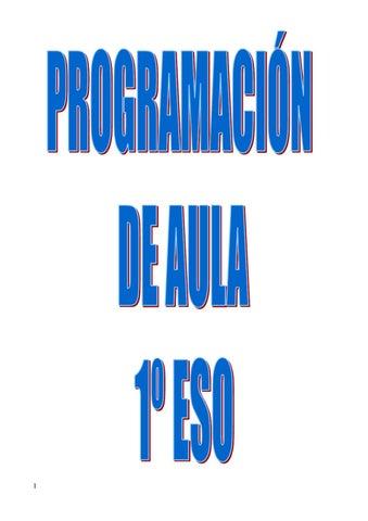 Programación 1º de ESO by Francisco Armando Saavedra - issuu