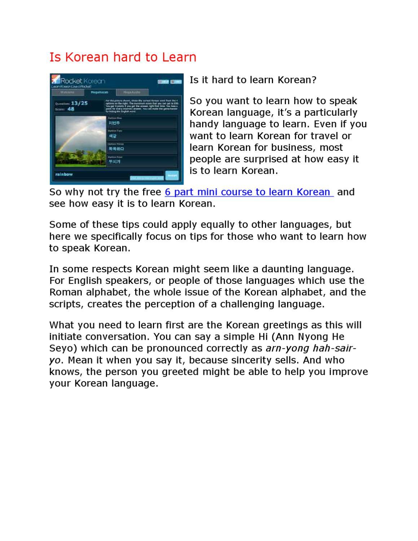 Learn To Speak Korean By Margot Oliver Issuu