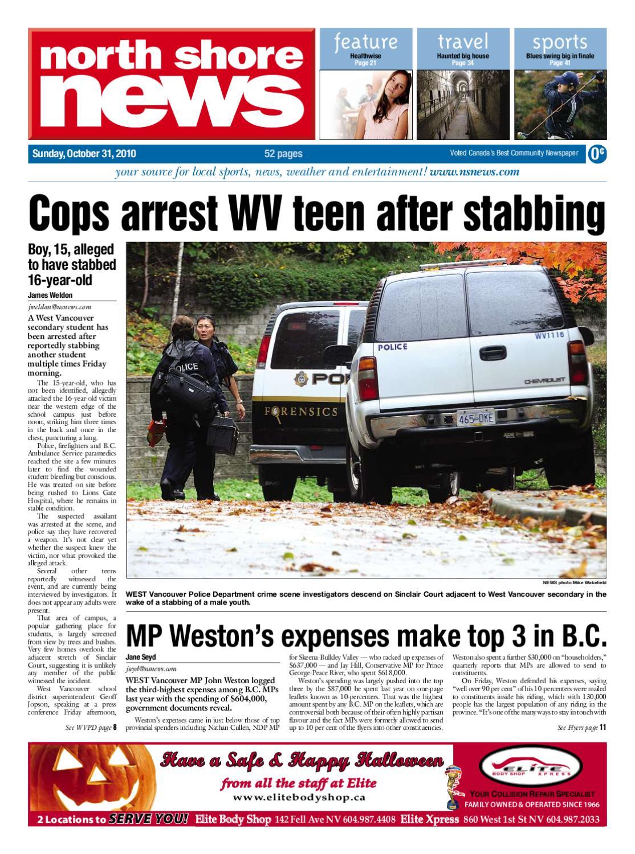 North Shore News - October 31, 2010 by Postmedia Community
