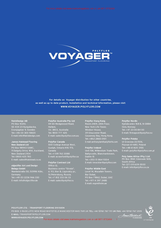 Polyflor Voyager Flooring Marine Brochure