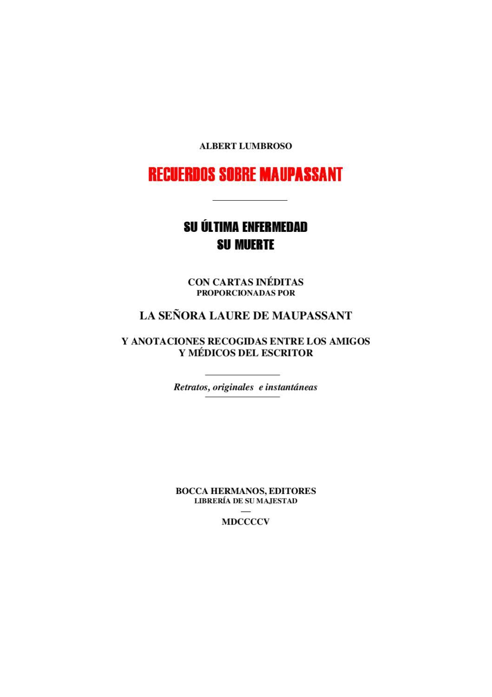 Recuerdos sobre Maupassant by Jose Ramos - issuu