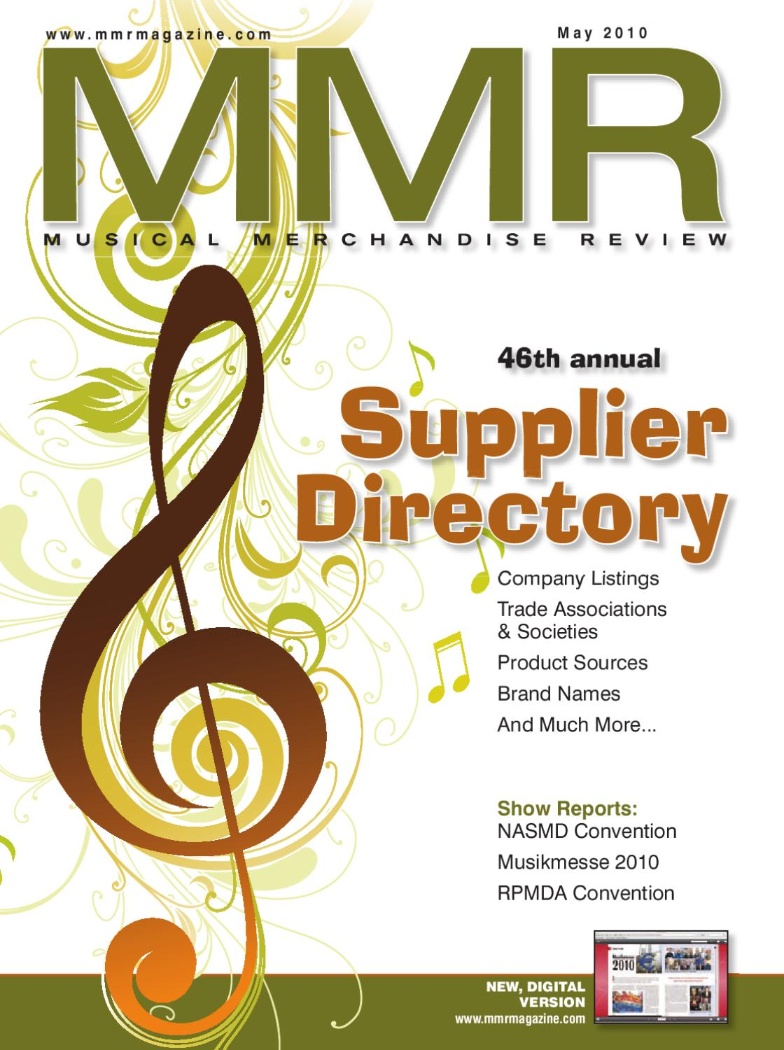 MMR May 2010 by MMR - Musical Merchandise Review - issuu