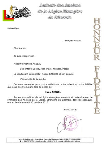 Remerciements de Madame Michelle ACEBAL by Président AALEME   issuu