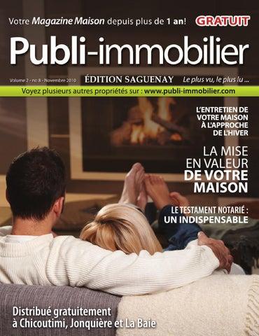 Le magazine Publi-Immobilier Saguenay NOVEMBRE 2010 by