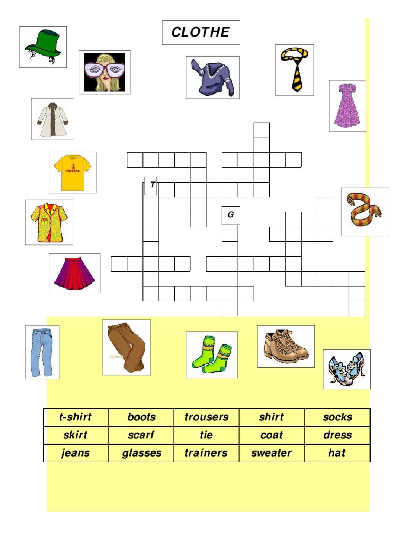 Clothes Worksheet 1 By L4f Acc Issuu Scarf Tying Diagram