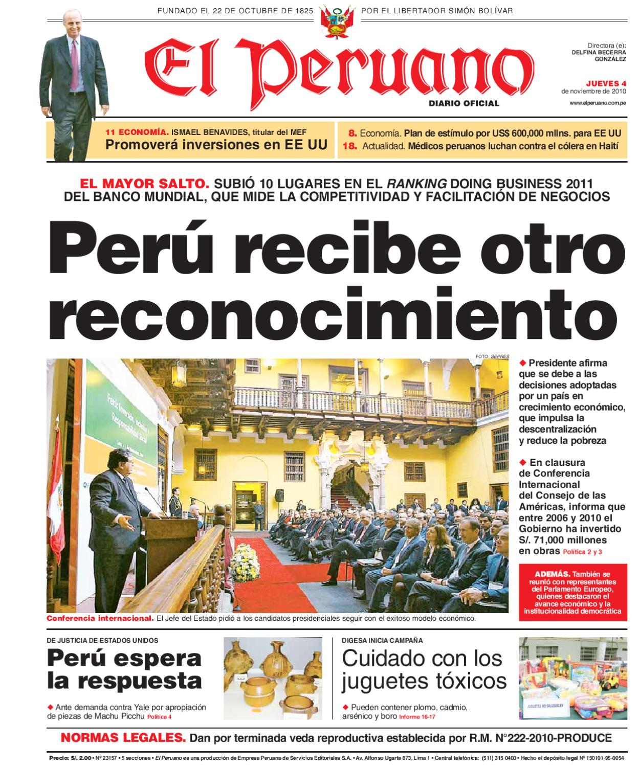 Diario el Peruano by mabel calle - issuu
