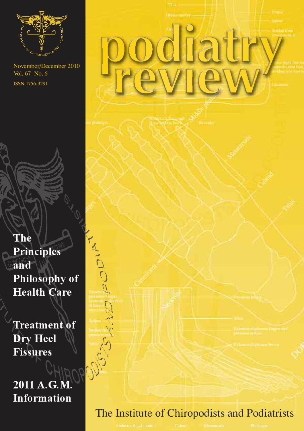Podiatry Review November/December 2010 by The IOCP - issuu