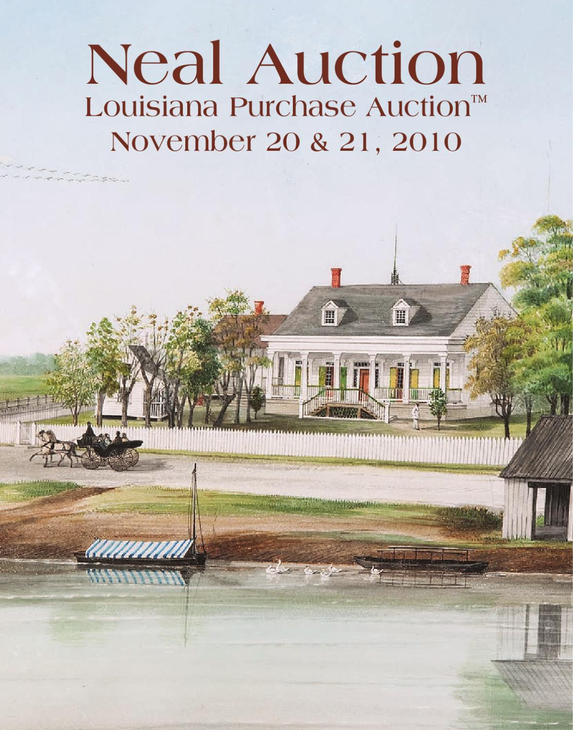 Neal Auction Louisiana Purchase Auction Nov 20 & 21 by Neal Auction ...