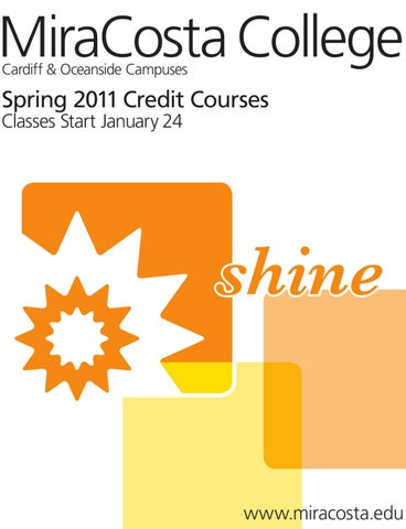 Credit Schedule 2011 Spring By Miracosta College Issuu