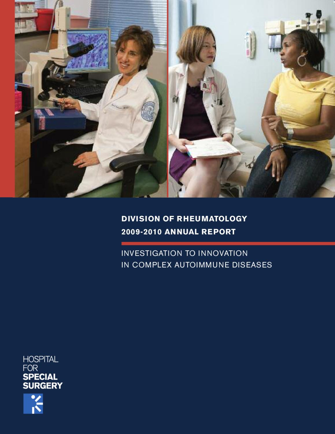 Division of Rheumatology 2009-2010 Annual Report