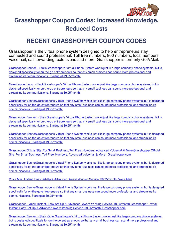 grasshopper-coupon-codes by Ben Olsen - issuu