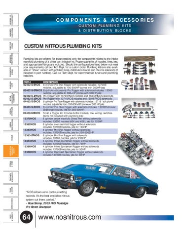 NOS 13700R Pro Fogger Custom Nitrous Plumbing Kit