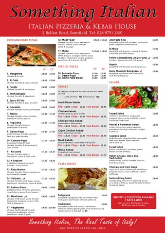 Something Italian Menu By Alex West  Issuu