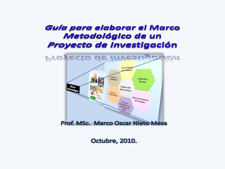 Guía para elaborar el Marco Metodológico by Marco Oscar Nieto Mesa ...