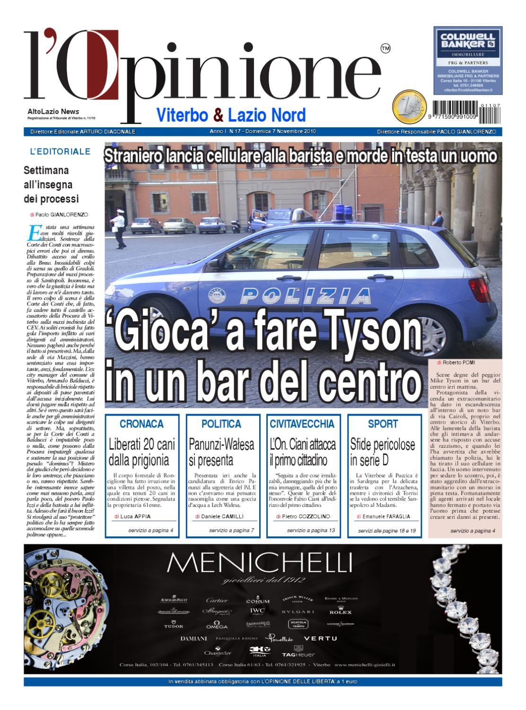 L'Opinione di Viterbo e Lazio nord - 7 novembre 2010 by