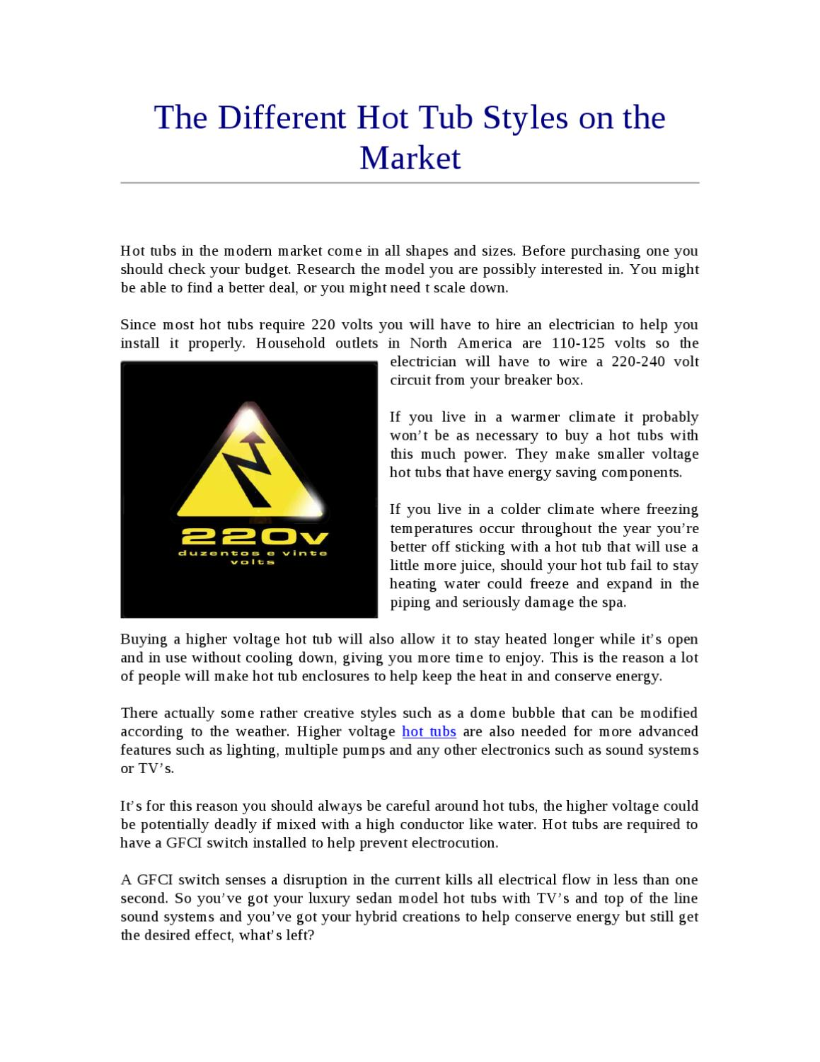 The Different Hot Tub Styles on the Market by troy kaptur - issuu
