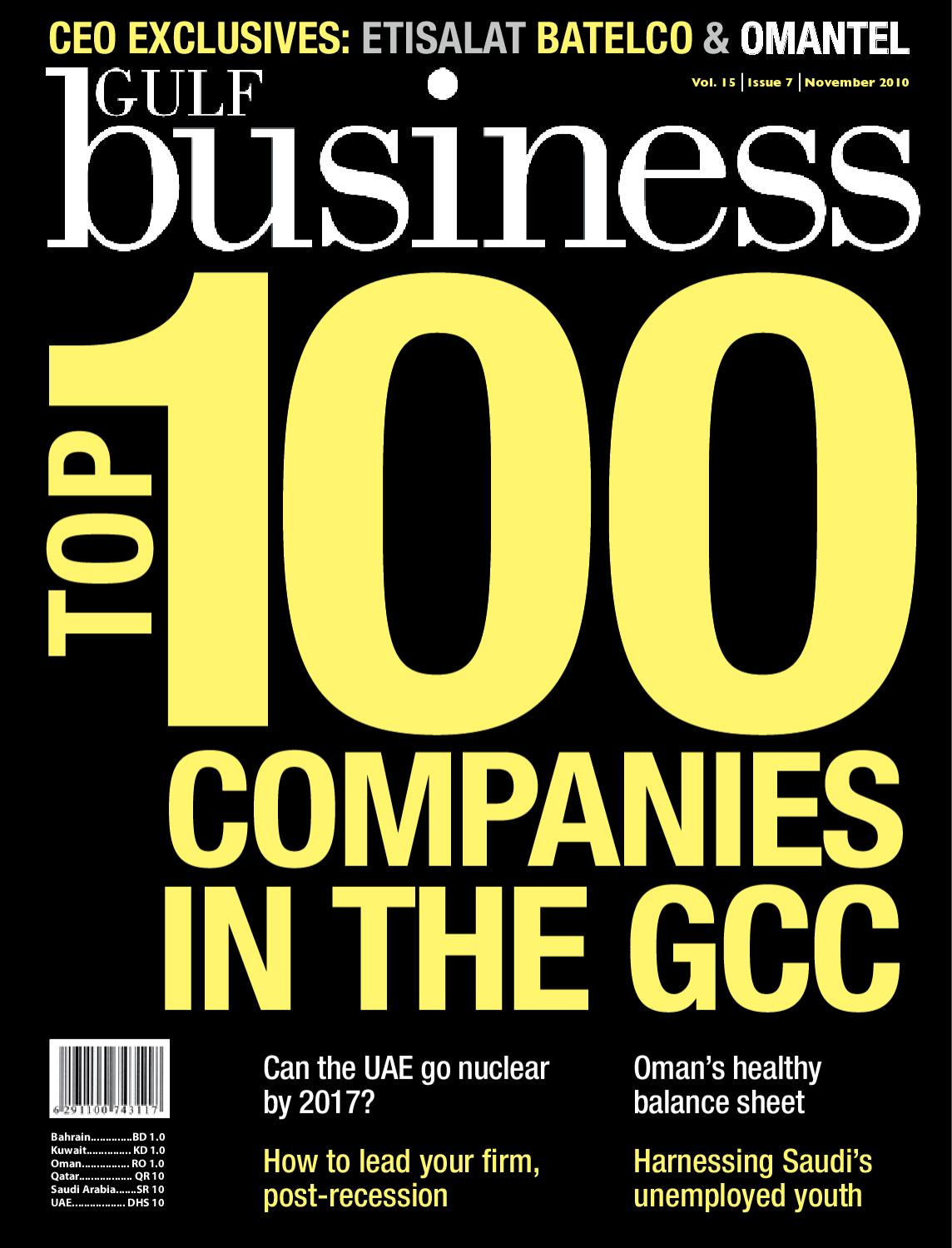 Gulf Business | November 2010 by Motivate Publishing - issuu