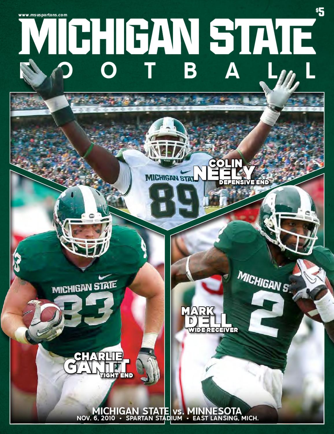 467ffdbc16a Michigan State Football Gameday Magazine 2010 - Minnesota by Ben Phlegar -  issuu