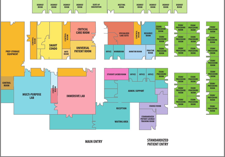 Floor Plan Hserc In The Edmonton Clinic Health Academy By