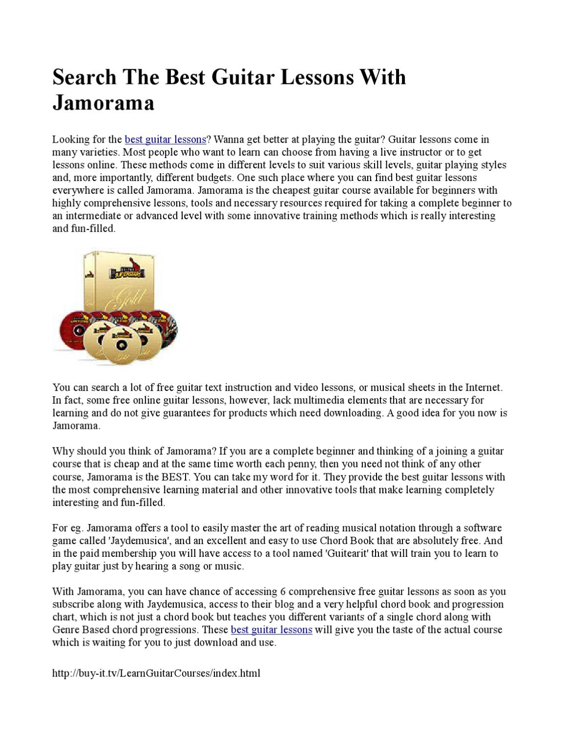 Search The Best Guitar Lessons With Jamorama By Penny Mena Issuu