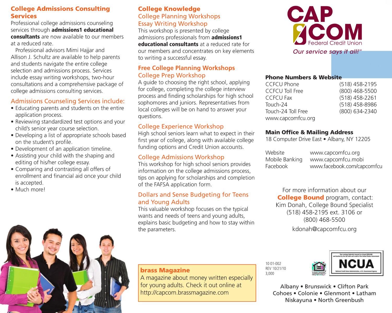 College Bound Brochure by CAP COM Federal Credit Union - issuu