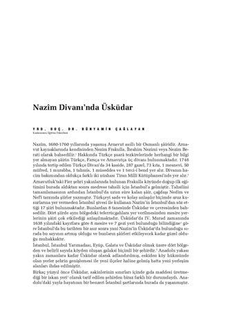 Nazîm Divani\'nda Üsküdar by Üsküdar Belediyesi - issuu