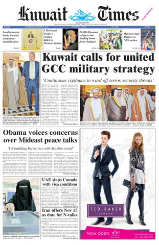 3c02da5c216 10 Nov by Kuwait Times - issuu