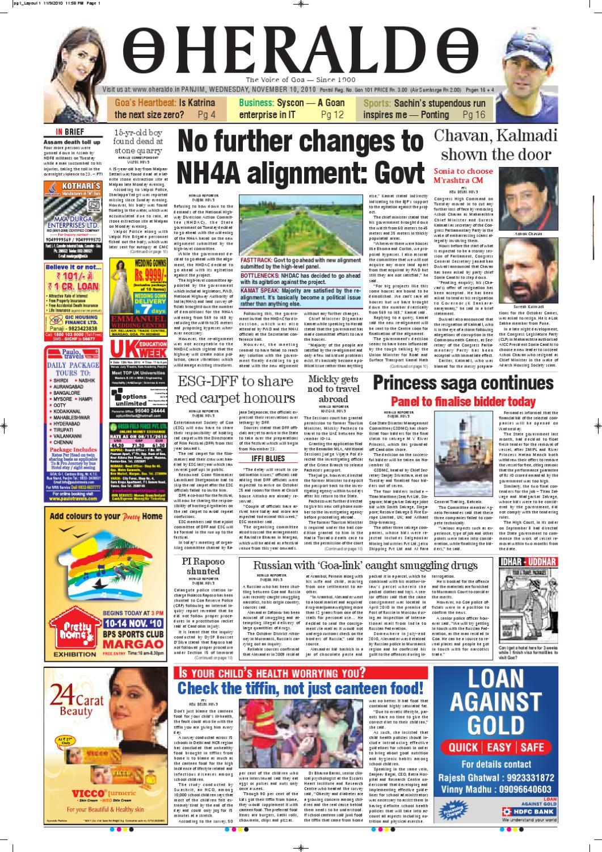 10 Nov,2010 HERALD PUBLICATIONS PVT LTD by Herald