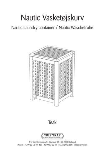 trip trap nautic vasketøjskurv