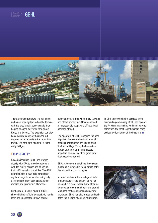 Kenya Ports Authority Handbook 2010-11 by Land & Marine