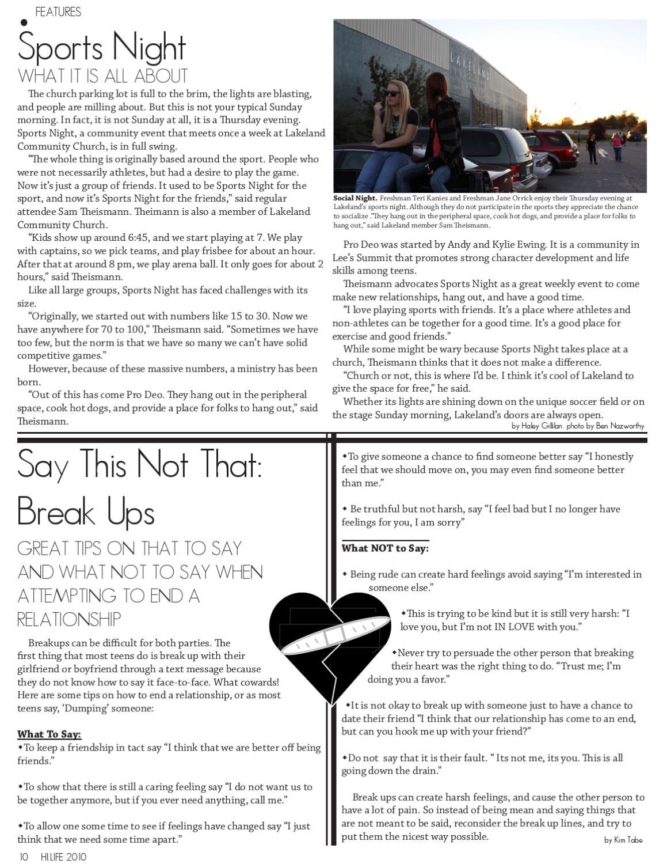 October 2010 by Lee's Summit HS Hi-Life Magazine - issuu
