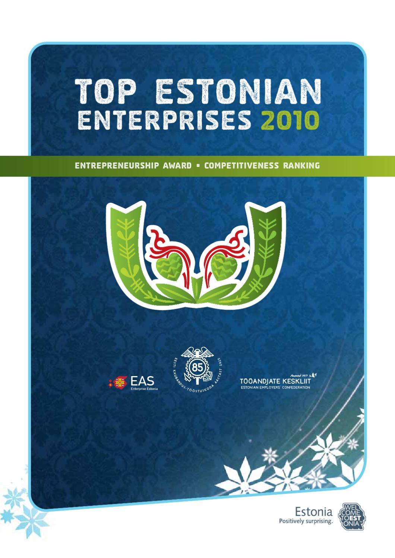 Top Estonian Enterprises 2010 by Eesti Kaubandus-Tööstuskoda