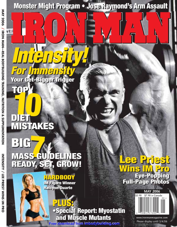 Http Imbodybuilding Com Free Manual 2006 05 By Iron Man Issuu