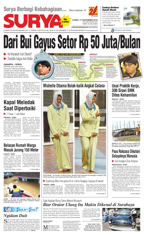 Surya Edisi Cetak 11 November 2010 By Harian Issuu Stand Hp Handphone Mount Docking Aksesoris Model Paus  Kcr009