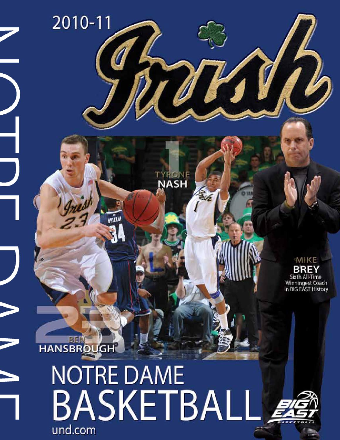 d6029d8cd9d4 2010-11 Notre Dame Men s Basketball Media Guide by Chris Masters - issuu