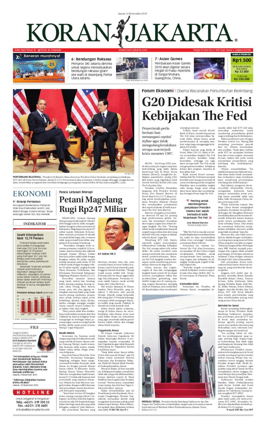 Edisi 860 12 November 2010 By Pt Berita Nusantara Issuu Atasan Sweden Putih Shop At Velvet