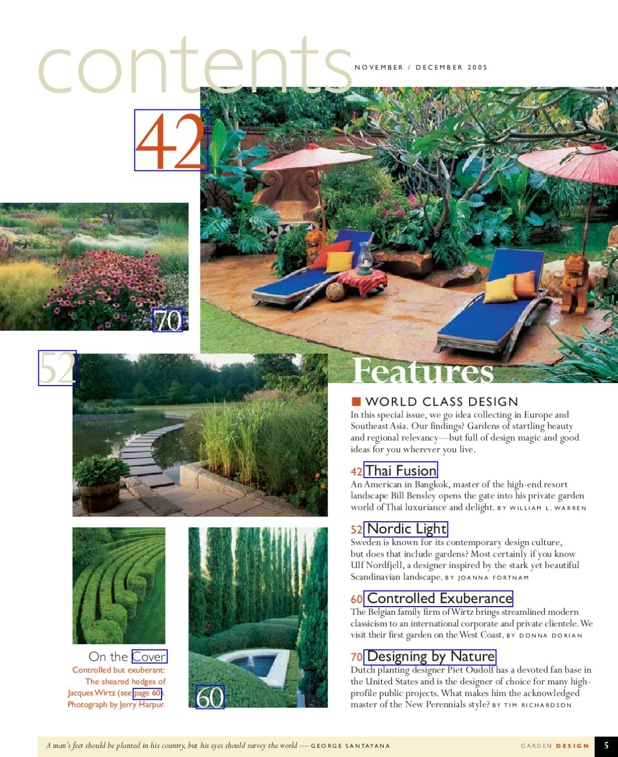 Garden Design Nov 2005 By Tropicspace Ebooks Issuu