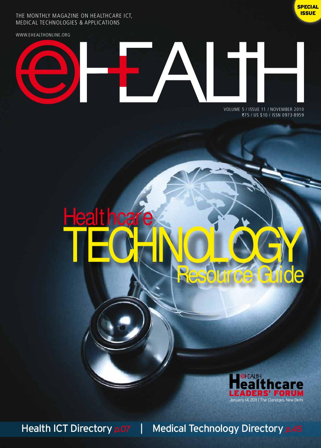 Healthcare TECHNOLOGY Resource Guide : November 2010 by