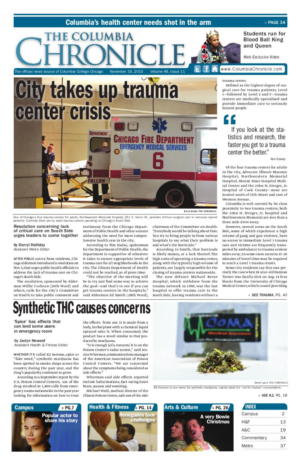 The Columbia Chronicle November 15, 2010 by The Chronicle of ...