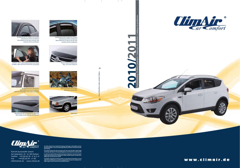 vorne für Ford Escort GAL mit ABE ClimAir Windabweiser AFL Fließheck//Limousin